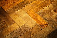 hardwood parquet - stock photo