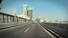 Driving Time lapse of downtown Tokyo - stock footage