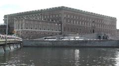 Stockholm Sweden Royal Palace 3 Stock Footage