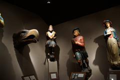 figureheads from historic new england sailing ships - stock photo