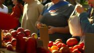 Stock Video Footage of Buying apples at Farmer's Market