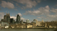 City of London one of the leading centres of global finance. Stock Footage