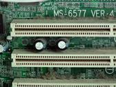 Stock Photo of Close up of dirty PCI socket