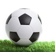 Stock Photo of soccer football and stadium use for sport theme