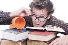 studying for exams - stock photo