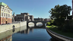 Stockholm view to Opera Building 1 Stock Footage