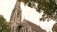 Stock Video Footage of COPENHAGEN, DENMARK - St. Albans Church, Churchill Park, Copenhagen, Denmark