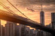 Brooklyn Bridge in NYC Stock Photos