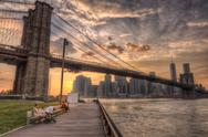Brooklyn Bridge in NYC Stock Photos