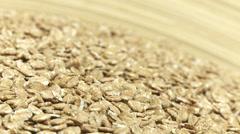 Wheat flakes 2 Stock Footage