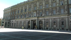 Swedish Royal Palace Stockholm 12 Stock Footage