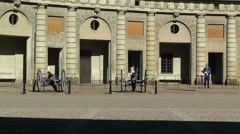 Swedish Royal Palace Stockholm 14 Stock Footage