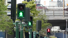 Traffic Lights Turn to Red 1 Stock Footage