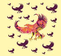 Athletic eagle spirit vector art Stock Illustration