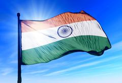 India flag waving on the wind Stock Illustration