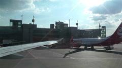 Stockholm Arlanda International Airport 6 handheld Stock Footage