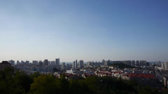 Overlooking panoramic china urban. Stock Footage
