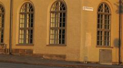 Stockholm Riddarholmen 11 sunset Stock Footage