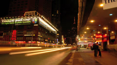 Timelapse traffic at night in Manhattan, New York - stock footage