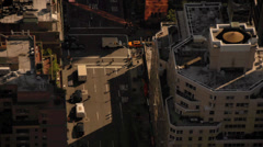 Timelapse of traffic at intersection in Manhattan, New York - stock footage