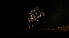 Fireworks during the Bonfires of Saint John in Spain Stock Footage