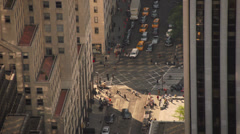 Timelapse of traffic at bust intersection in Manhattan, New York Stock Footage