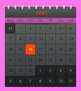 april 2014 - stock illustration
