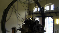 Bad Reichenhall old salt mine 13 meters Waterwheels pressure pump Stock Footage