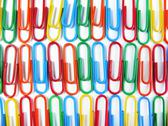 Stock Photo of Background of Colourful Paper Clips Close Up