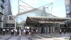 2013 Tokyo Big Sight wide-angle time lapse Stock Footage