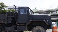 Civil defence - fema truck Stock Footage