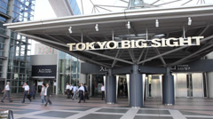 2013 Tokyo Big Sight fast Stock Footage