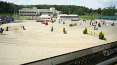 International competitions in show jumping CSI3 Vivat Stock Footage