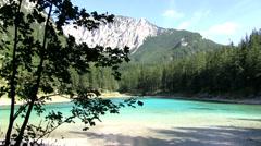 Green Lake in Styria, Austria Stock Footage
