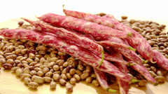 Pinto beans Stock Footage