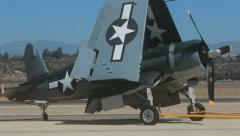 Corsair Backed into position - stock footage