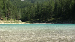 Green Lake in Styria, Austria - stock footage
