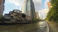 Bangkok boats slow motion Stock Footage