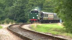 Vintage Steam Train at the Bluebell Railway Stock Footage
