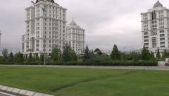 Driving through Ashgabat, Turkmenistan Stock Footage