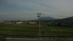 Mt. Fuji from Shinkansen Stock Footage
