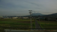 Stock Video Footage of Mt. Fuji from Shinkansen