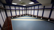 Stock Video Footage of Cloakroom in Santiago Bernabeu Stadium - arena of soccer club