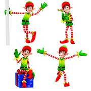 Stock Illustration of dancing elves