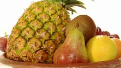 Fresh fruit rotating Stock Footage