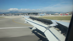Airplane landing Stock Footage