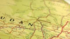Khartoum Sudan Map Slider Dolly Panning Stock Footage