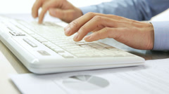 Hands typing Stock Footage