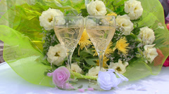 Wedding champagne Stock Footage