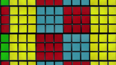 Spining Rubik´s cubes background Stock Footage